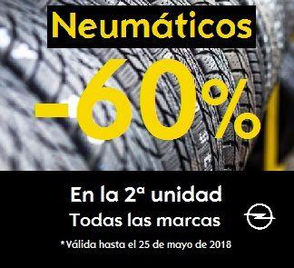 OFERTA NEUMÁTICOS 60% dto. 2ª UNIDAD