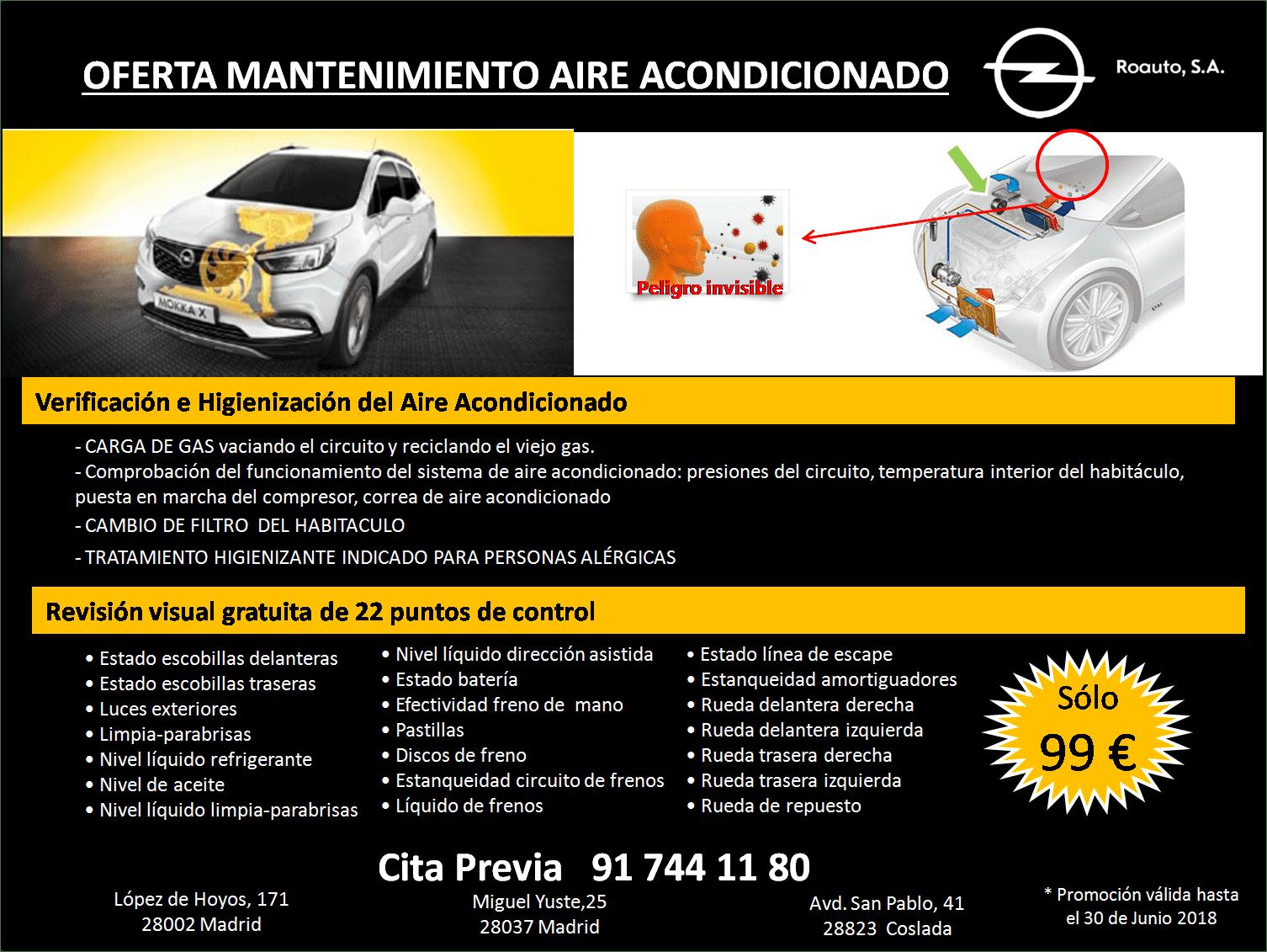 OFERTA MANTENIMIENTO AIRE ACONDICIONADO