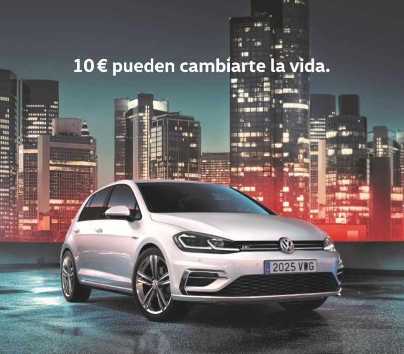Oferta Volkswagen: Nuevo Golf 2018 POR SOLO 10€/día con My Renting