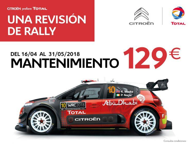 UNA REVISIÓN DE RALLY: OFERTA DE MANTENIMIENTO OFICIAL POR 129 €