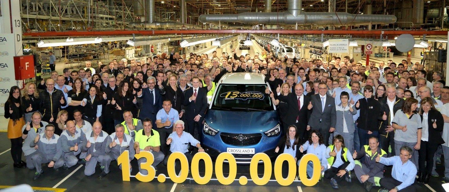 Opel Zaragoza alcanza los 13 millones de unidades fabricadas