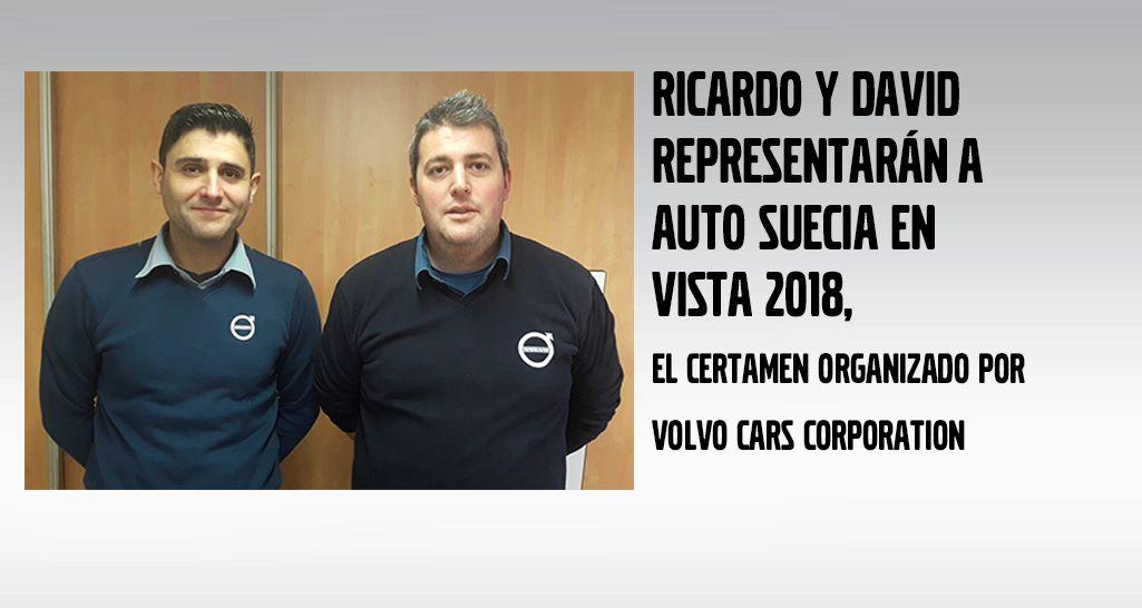 """RICARDO Y DAVID REPRESENTARÁN A AUTO SUECIA EN EL CERTAMEN DE VOLVO """"VISTA 2018"""""""