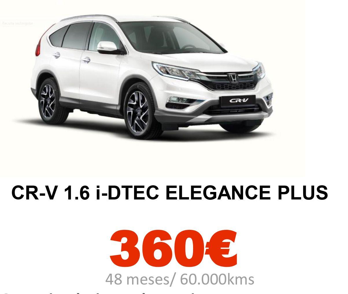 Honda Renting: CR-V 1.6 i-DTEC ELEGANCE PLUS