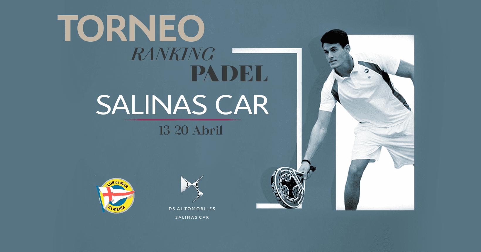 DS Salinas Car patrocinador oficial del II Ranking Pádel del Club de Mar Almería