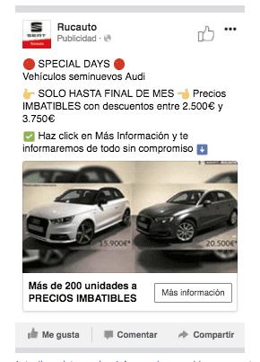SPECIAL DAYS! Ofertas especiales en vehículos seminuevos Audi solo hasta el 30-04-2018