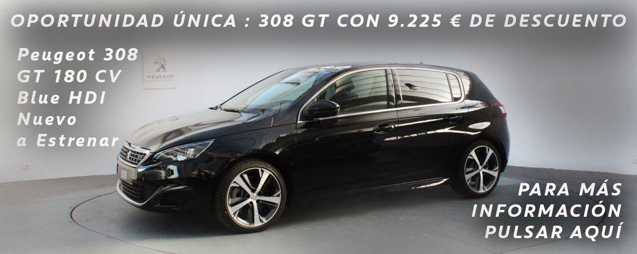 OPORTUNIDAD ÚNICA PEUGEOT 308 GT BLUE HDI 180 CV CON 9.225 € DE DESCUENTO