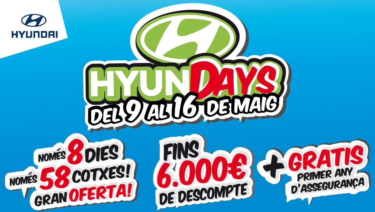 Arriben els 'HyunDAYS' a Augusta Car Hyundai amb preus d'escàndol