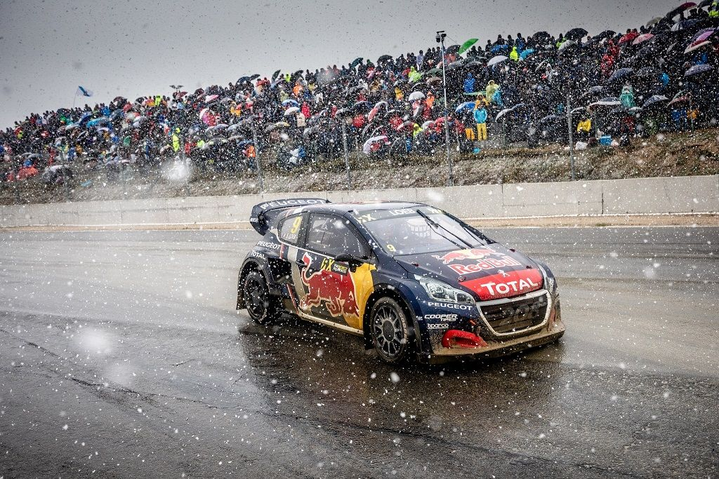 Sébastien Loeb repite podio WRX, esta vez, bajo la nieve en Portugal