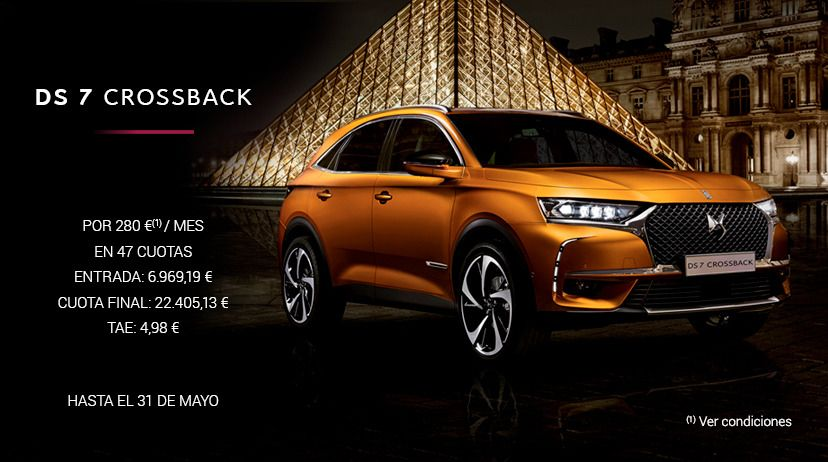 DS 7 CROSSBACK BlueHDi 180 Automático SO CHIC por 280 € /mes*