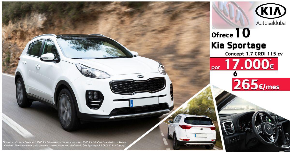 Llévate un Kia Sportage por 17.000€ o 265€/mes