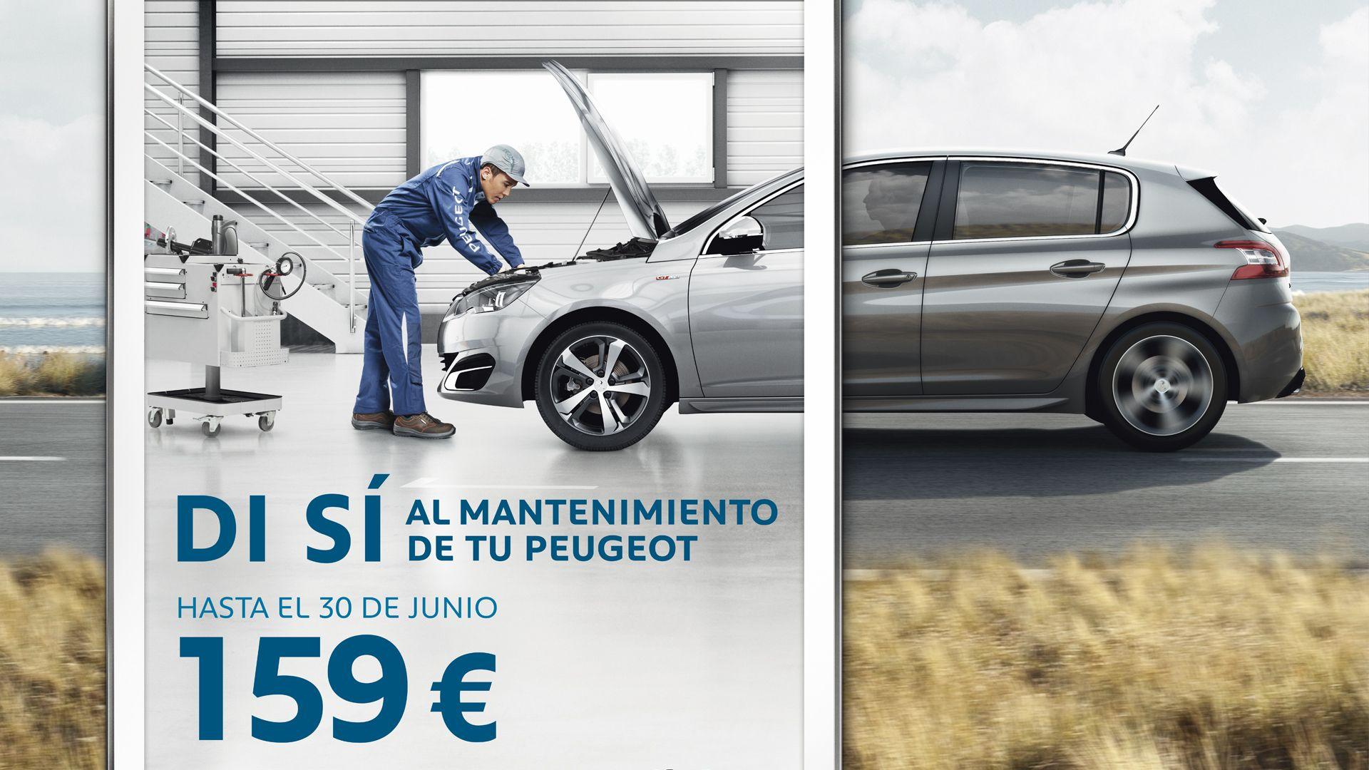 REALIZA EL MANTENIMIENTO DE TU PEUGEOT POR SÓLO 159€