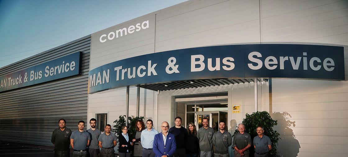 MAN amplía su cobertura en Levante con la inauguración del MAN Truck & Bus Service de Comesa en Puerto de Sagunto