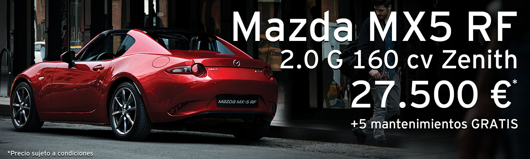 Mazda MX5 RF 2.0 G de 160 cv Soul Red Crystal