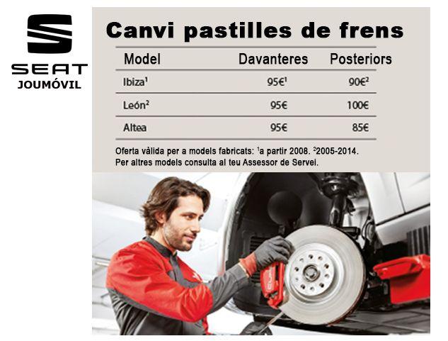 SEAT: CANVI PASTILLES DE FRENS