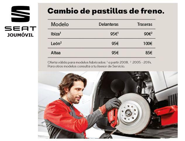 SEAT: CAMBIO PASTILLAS DE FRENOS