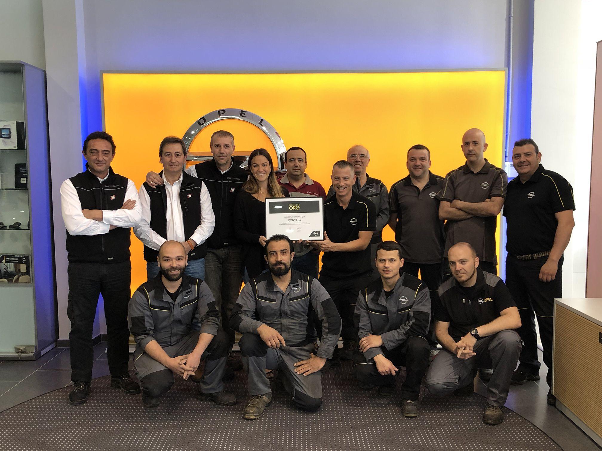 Opel nombra 'Reparador Oro 2018' a Opel Convesa
