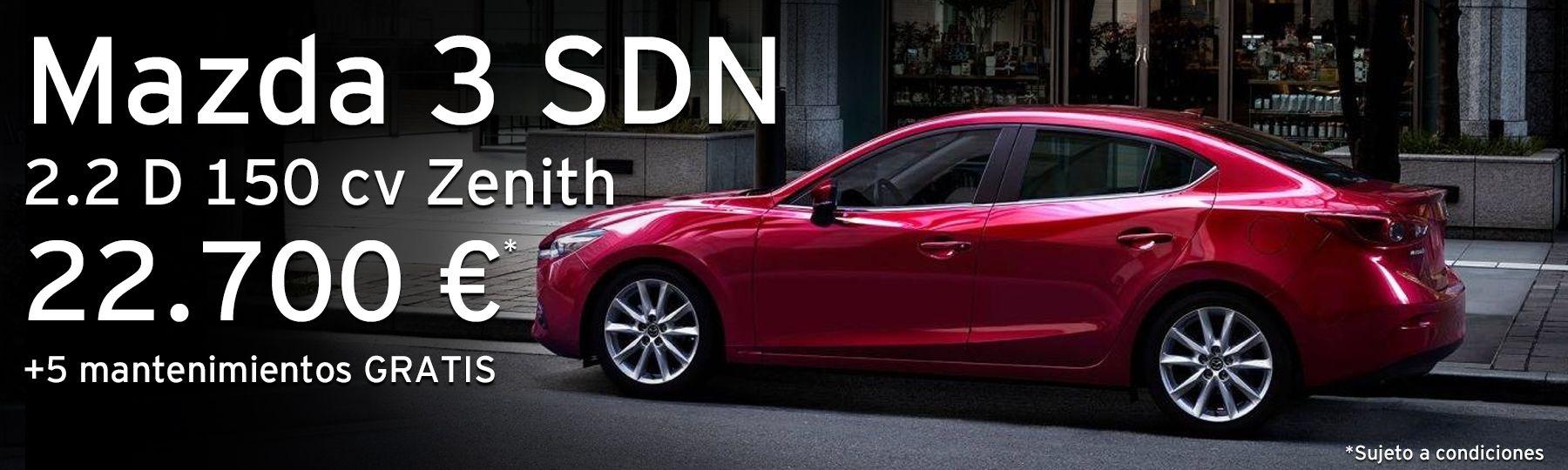 Mazda 3 Sedán 2.2 D 150 cv Zenith