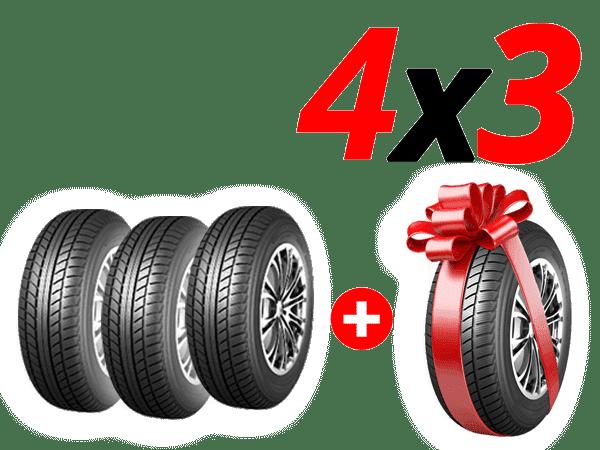 Paga 3 Neumáticos y te regalamos el 4º