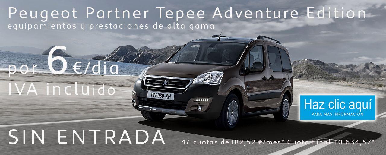 Peugeot Partner Tepee Adventure Edition, Gran  equipamiento y prestaciones de alta gama por 6 €/dia