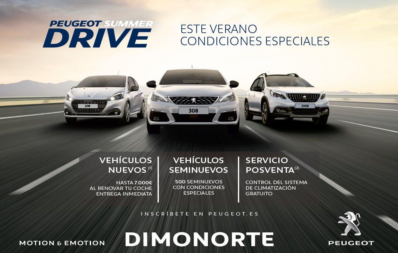 Peugeot Summer Drive - Ofertas especiales en Junio en Dimonorte