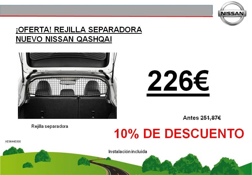 ¡OFERTA! REJILLA SEPARADORA NUEVO NISSAN QASHQAI - 226€