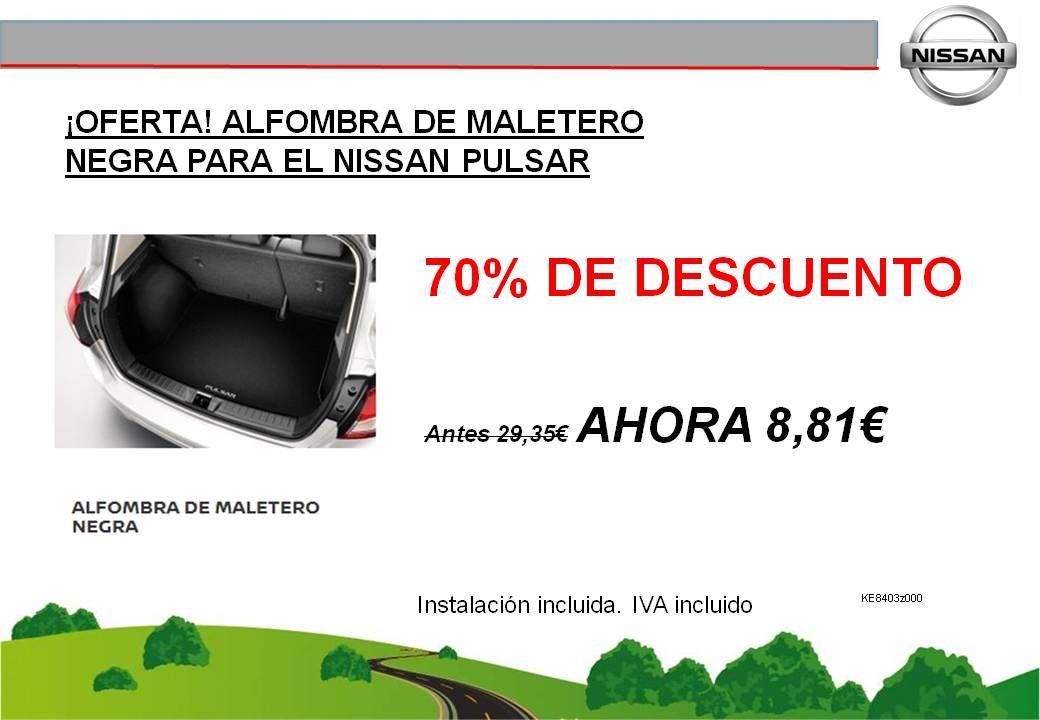 ¡OFERTA! ALFOMBRA DE MALETERO NEGRA PARA EL NISSAN PULSAR - 8,81€
