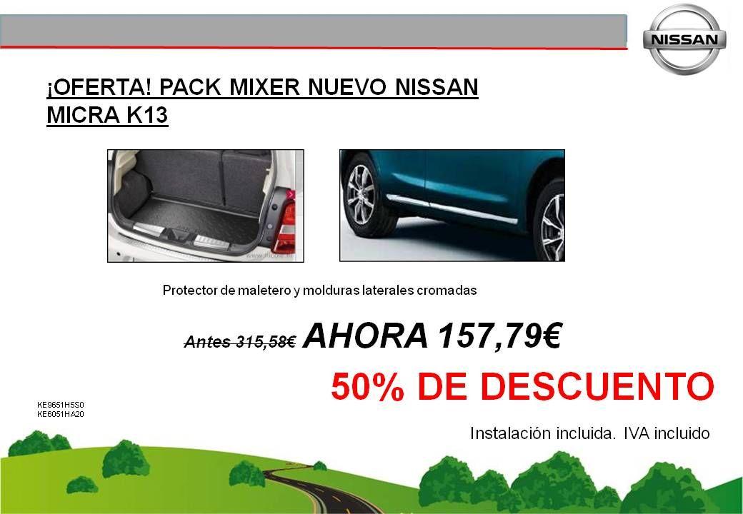 ¡OFERTA! PACK MIXER NUEVO NISSAN MICRA - 157,79€