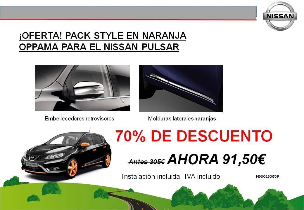 ¡OFERTA! PACK STYLE EN NARANJA OPPAMA PARA EL NISSAN PULSAR - 91,50€