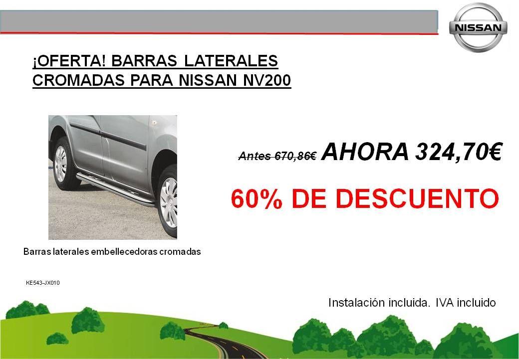 ¡OFERTA! BARRAS LATERALES EMBELLECEDORAS CROMADAS NISSAN NV200  - 324,70€