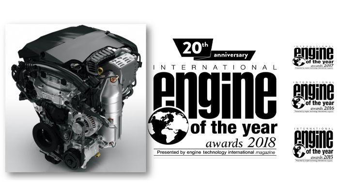 El motor de gasolina Turbo PureTech de Groupe PSA recibe, por 4º año consecutivo, el premio mundial al motor del año