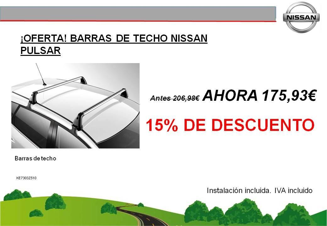 ¡OFERTA! BARRAS DE TECHO EN ALUMINIO PARA EL NISSAN PULSAR - 175,93€
