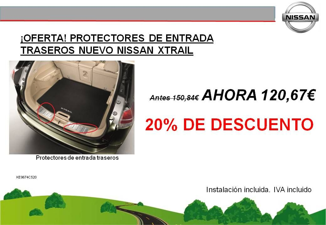 ¡OFERTA! PROTECTORES ENTRADA TRASEROS NUEVO NISSAN X-TRAIL - 120,67€