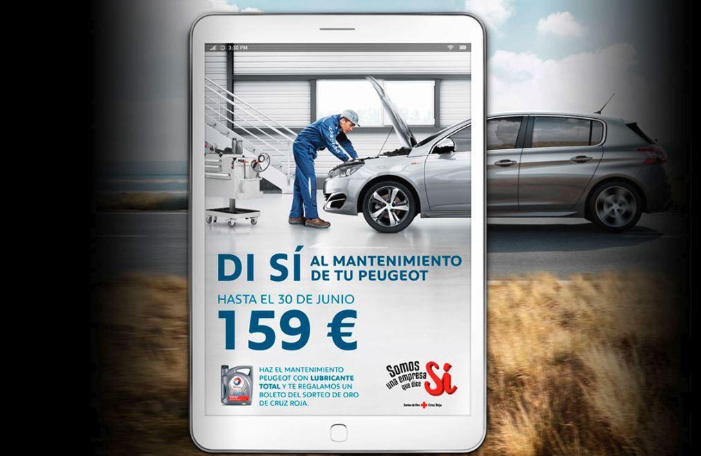 Di si al mantenimiento de tu Peugeot por 159 euros