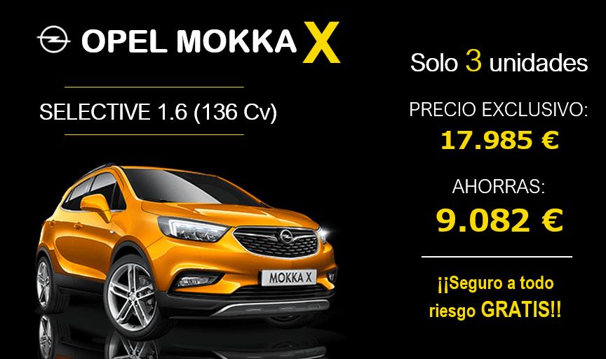 Ahorra más de 9.000 € en tu Nuevo Mokka X con Seguro a todo riesgo GRATIS
