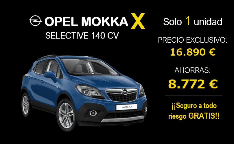 Ahorra casi 9.000 € en tu Nuevo Opel Mokka X con Seguro a todo riesgo GRATIS