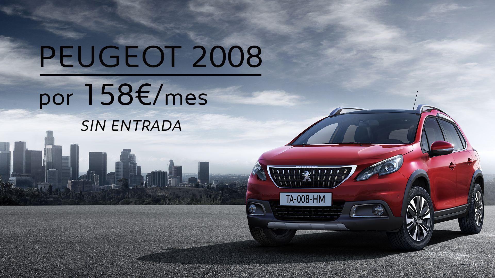 SUV PEUGEOT 2008 POR 158€/MES SIN ENTRADA