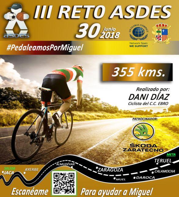 III Reto ASDES, pedaleamos por Miguel.
