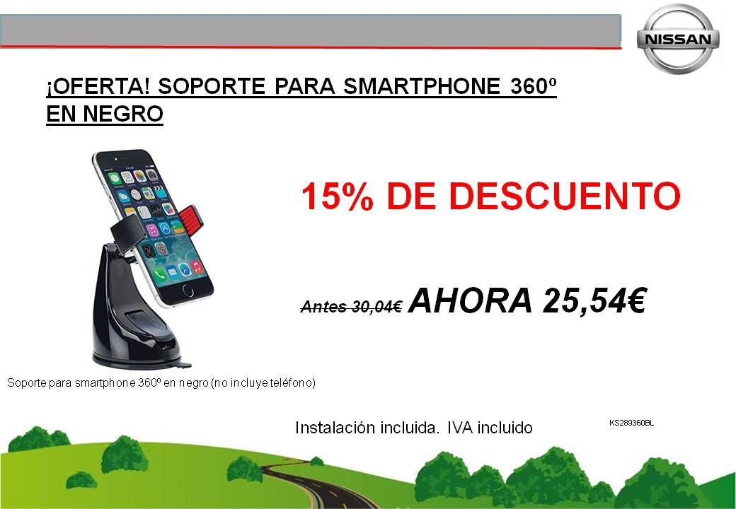 ¡OFERTA! SOPORTE PARA SMARTPHONE 360º EN NEGRO - 25,54€