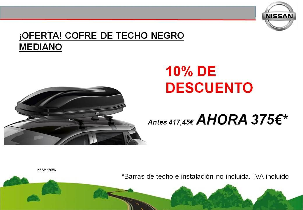 ¡OFERTA! COFRE DE TECHO MEDIANO NEGRO - 375€
