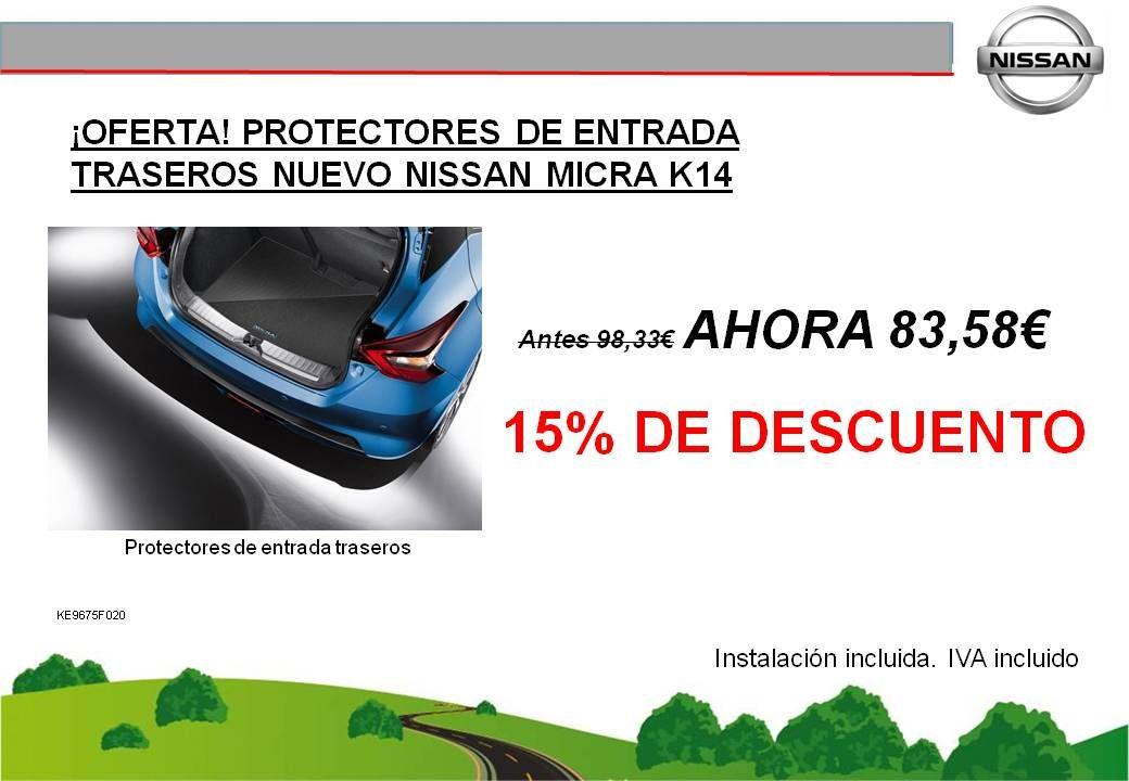 ¡OFERTA! PROTECTORES ENTRADA TRASEROS NUEVO NISSAN MICRA K14 - 83,58€