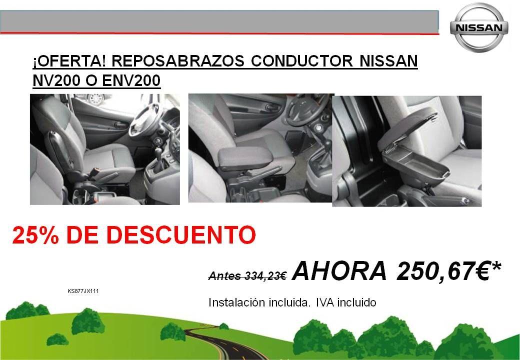 ¡OFERTA! REPOSABRAZOS CONDUCTOR NISSAN NV200 O E-NV200 - 250,67€