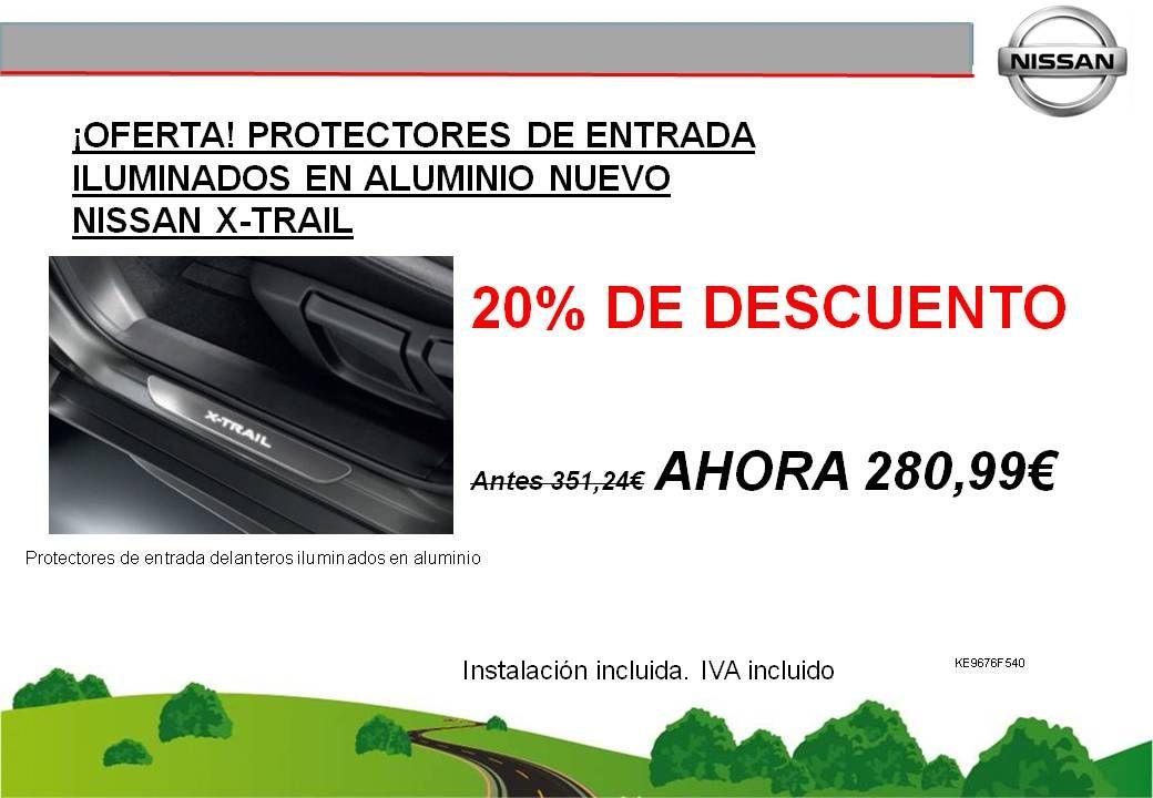¡OFERTA! PROTECTORES DE ENTRADA ILUMINADOS EN ALUMINIO NUEVO NISSAN X-TRAIL - 280,99€
