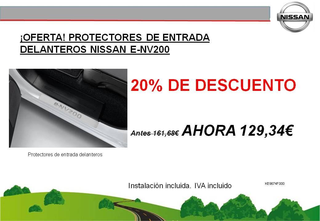 ¡OFERTA! PROTECTORES DE ENTRADA DELANTEROS NISSAN E-NV200 - 129,34€