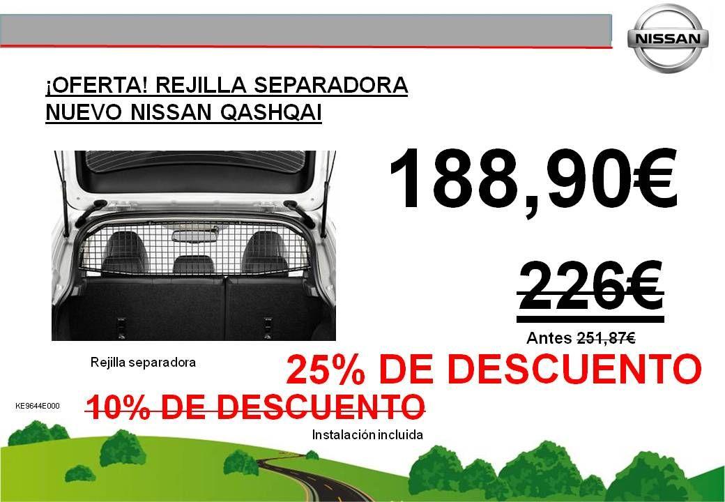 ¡OFERTA EXCLUSIVA! REJILLA SEPARADORA NUEVO NISSAN QASHQAI - AHORA 188,90€ - ANTES 226€