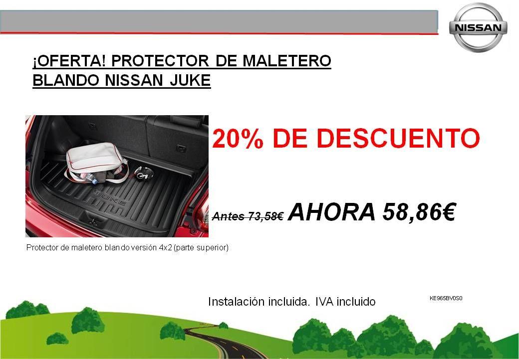 ¡OFERTA! PROTECTOR DE MALETERO BLANDO NISSAN JUKE - 58,86€