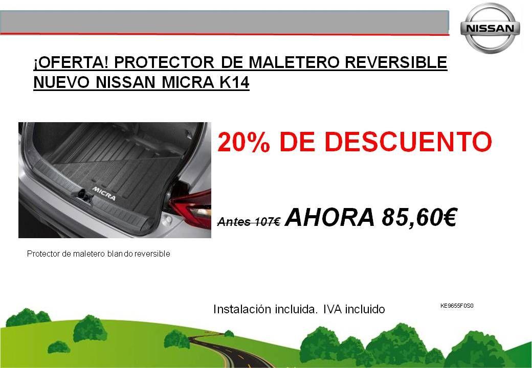 ¡OFERTA! PROTECTOR DE MALETERO REVERSIBLE NUEVO NISSAN MICRA K14 - 85,60€