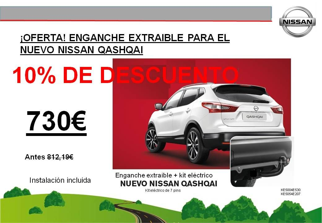 ¡OFERTA! ENGANCHE EXTRAIBLE NUEVO NISSAN QASHQAI - 730€