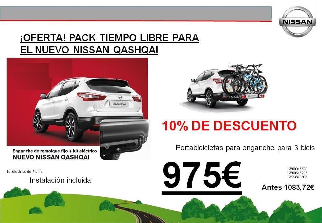 ¡OFERTA! PACK TIEMPO LIBRE NUEVO NISSAN QASHQAI - 975€