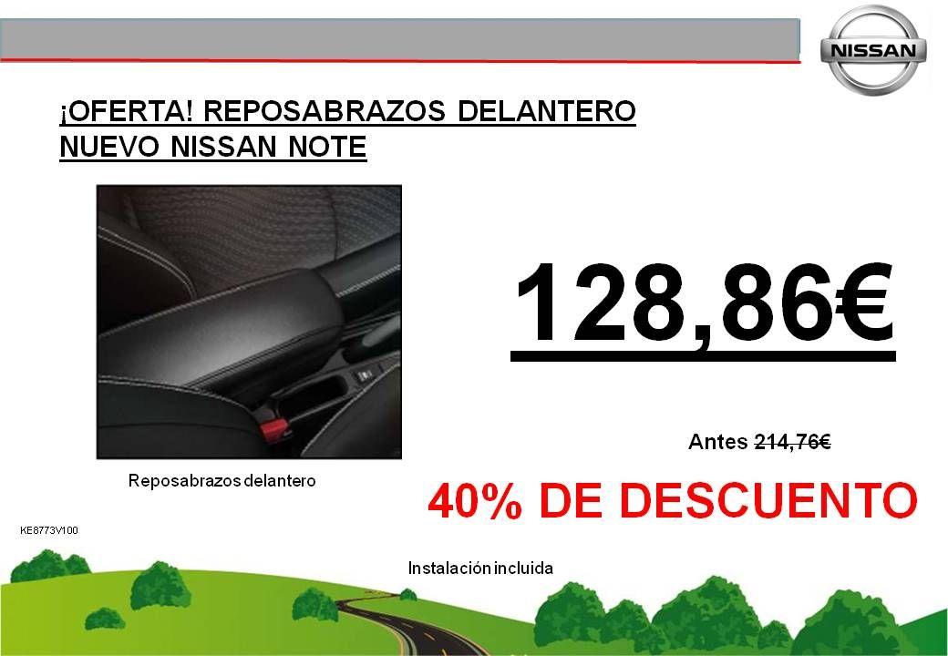 ¡OFERTA! REPOSABRAZOS DELANTERO NUEVO NISSAN NOTE - 128,86€