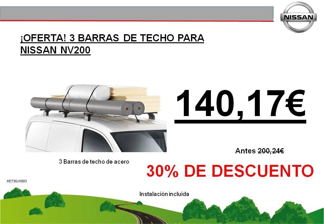 ¡OFERTA! 3 BARRAS DE TECHO PARA NISSAN NV200 - 140,17€